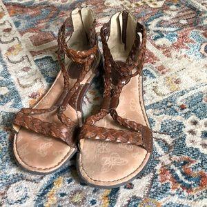 B.o.c Born Concept Cognac Braided Gladiator Sandal